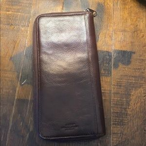 dopp leather wallet big leather wallet brown